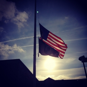 Photo: Flags fly at half staff Saturday in honor of Nelson Mandela